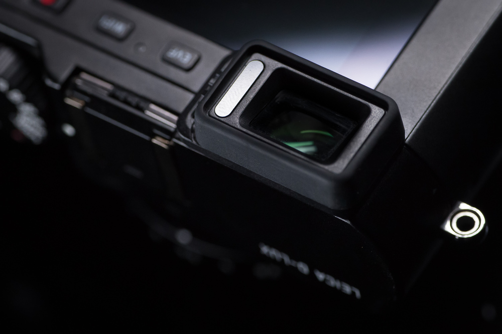 The Electronic View Finder (EVF) and sensor top left of LCD