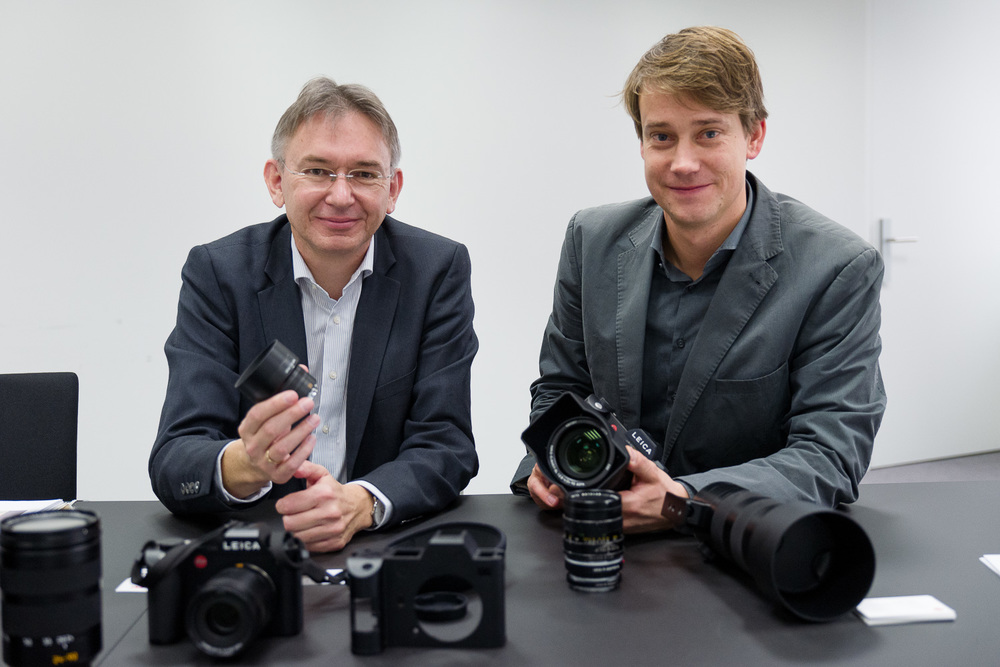 Stephan Schulz- Head of Product Management Professional Photo System (L), and Steffen Skopp – Product Manager SL-System.