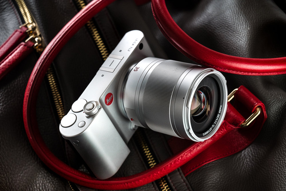 The Leica TL2 with Summilux-TL 35/1.4 ASPH on a Mettique sports bag