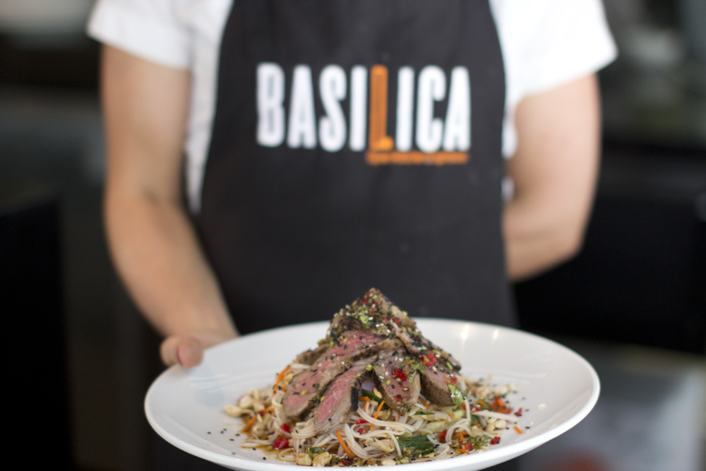 Grilled Beef dish @ Basilica in Brookfield Place