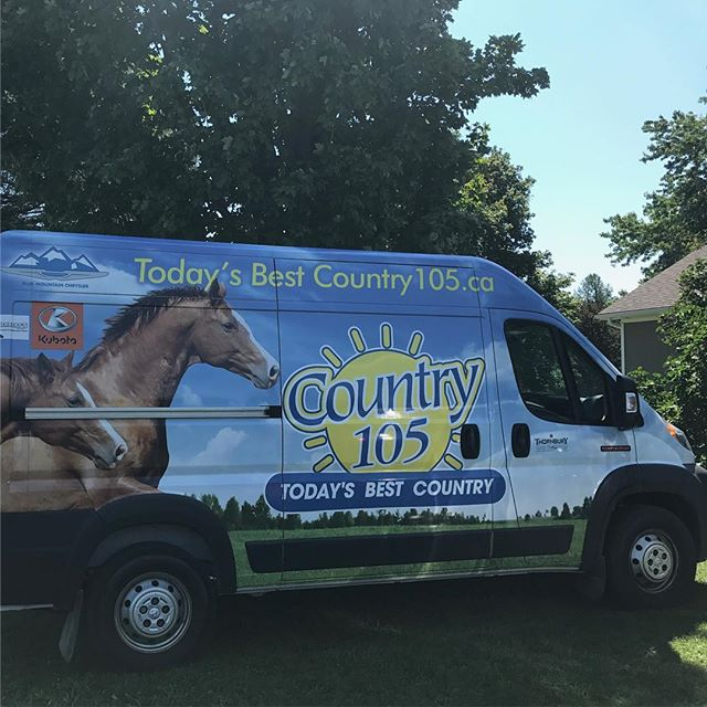 Excited to have @country105fm here with us today!