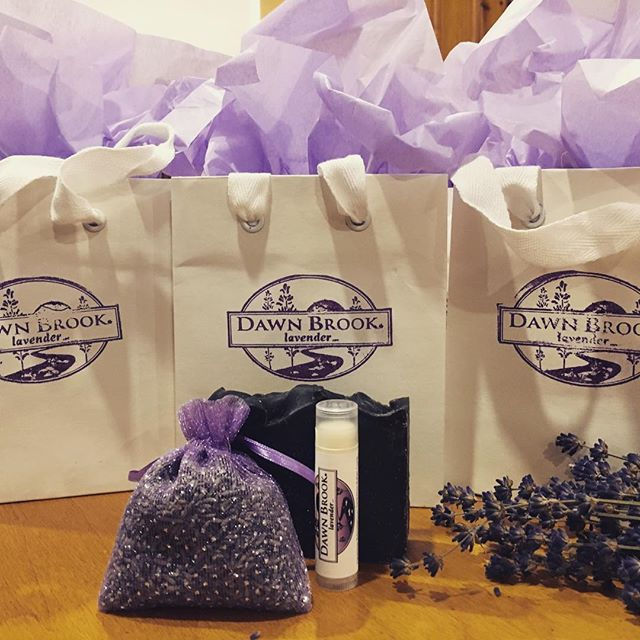 Spa day goodie bags ready to go! Soap, lip balm and a sachet for $12 ($15 value)!! #lavender #spaday #lavendersachet #lavendersoap #handmade