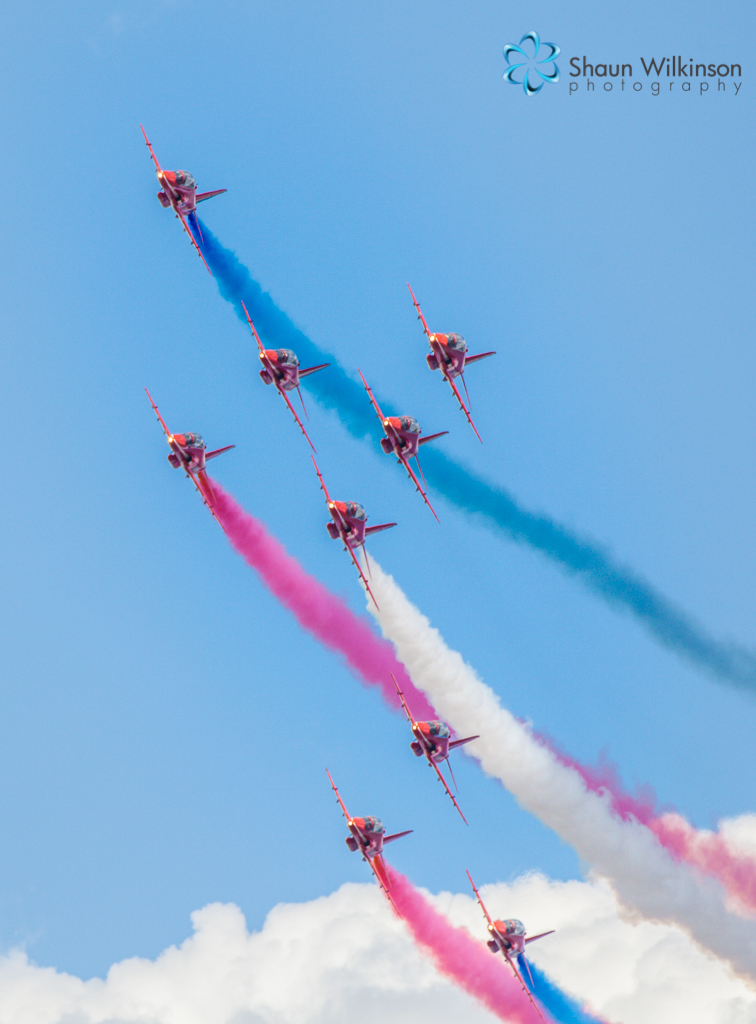 Red arrows at cleethorpes airshow