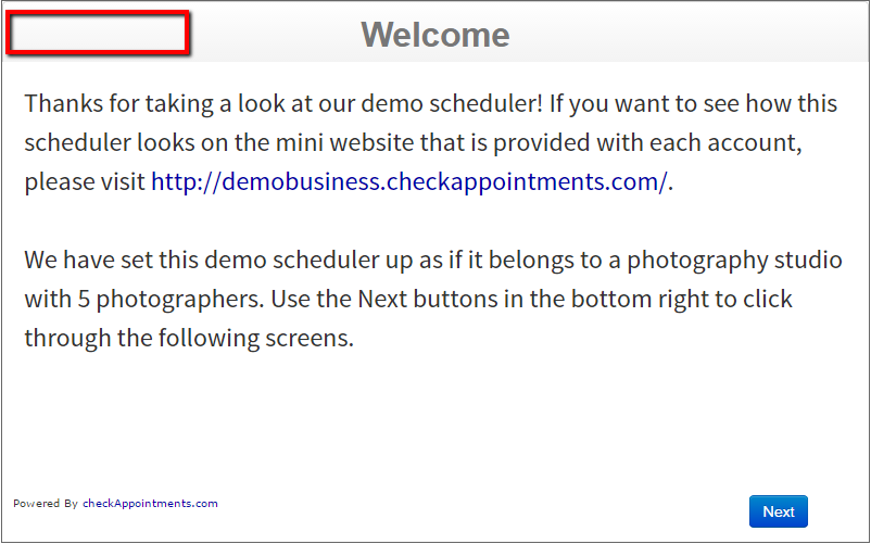 If you don't allow clients to login, then the scheduler will not display the login or register links in the top left.