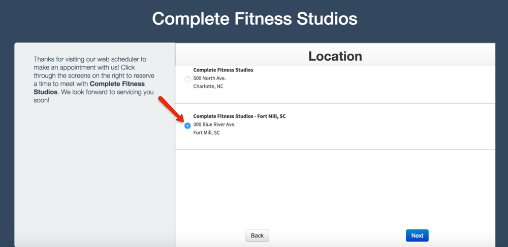 Complete Fitness Studios Fort Mill, SC location