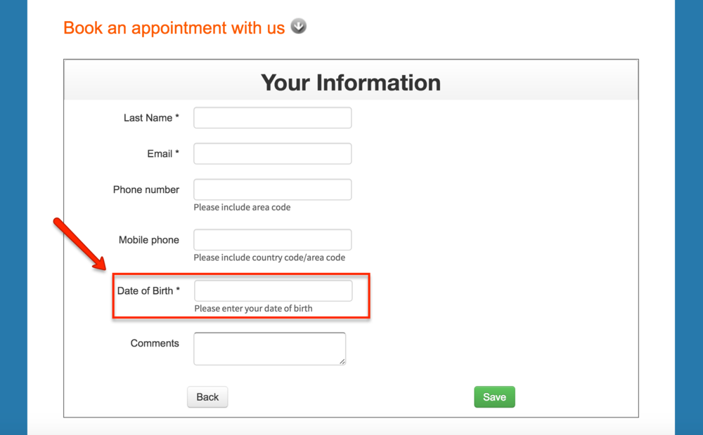 Test your appointment scheduler as a client