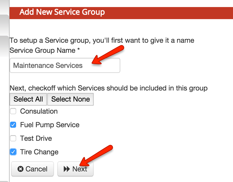 Create service groups for organizing your services and or classes