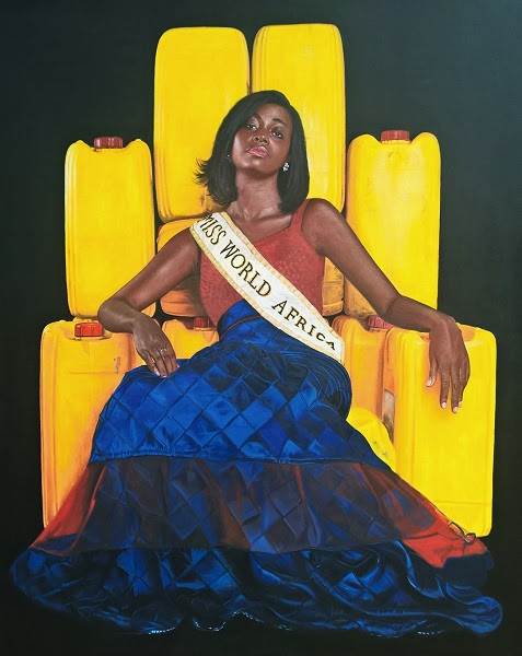 Jeremiah Quarshie, Yellow is the Colour of Water series, acryliic on canvas, 2015, courtesy the artist and gallery 1957, Accra, Ghana