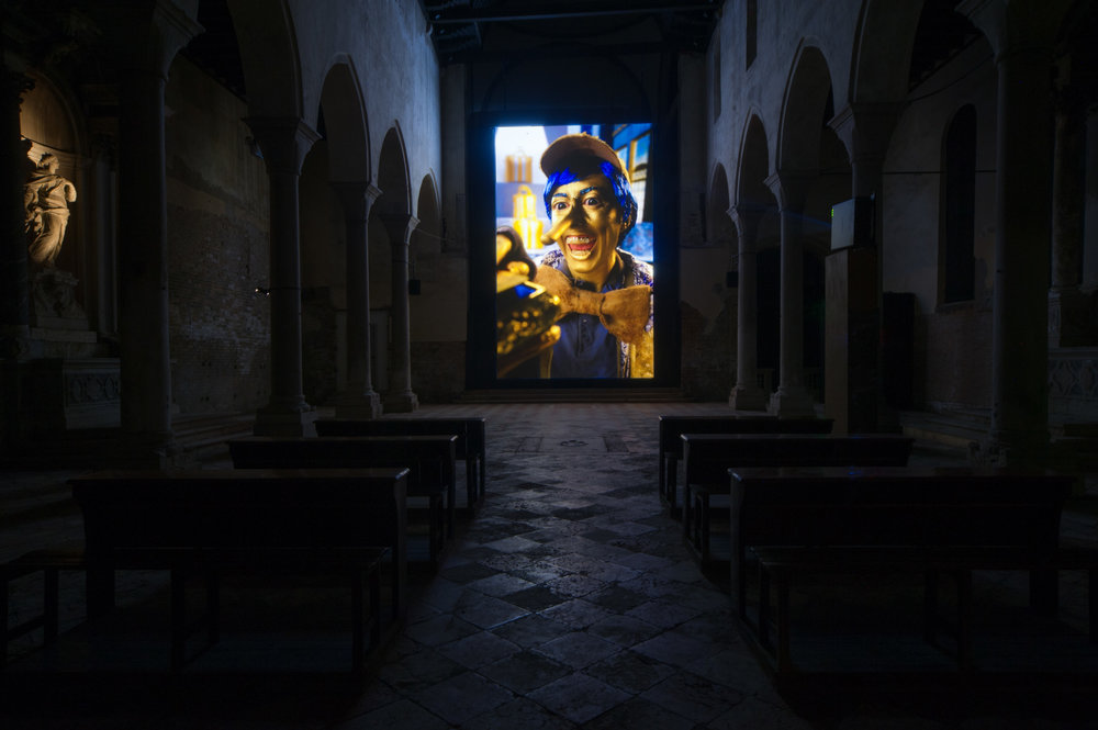 Installation view, Rachel Maclean, Spite Your Face, 2017. Courtesy Scotland + Venice. Photo Patrick Rafferty.