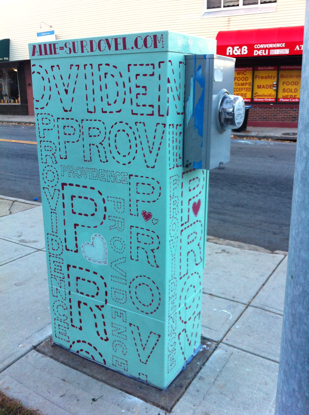"""Stitched Providence"" Mt. Pleasant and Chalkstone Blvd. Transformer"