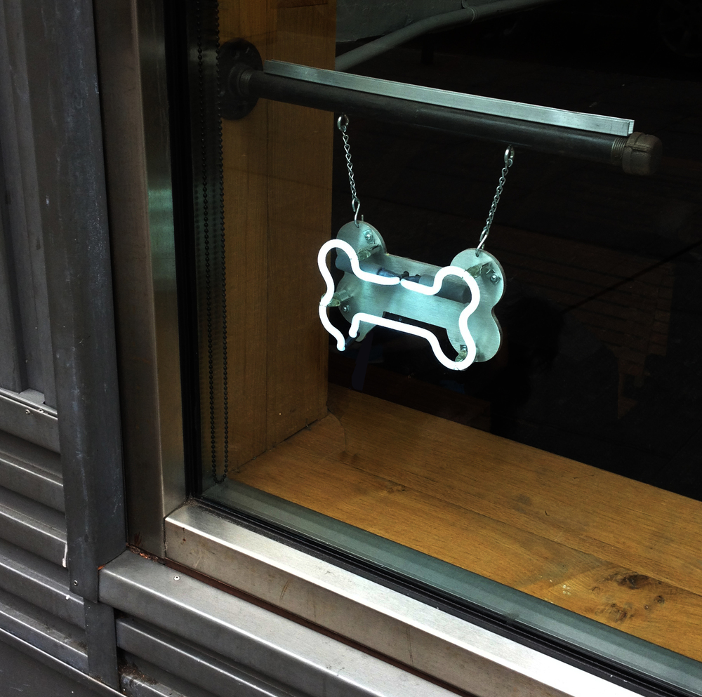 POOCHINI NEON, Bone-White Neon, Upper East Side, NY