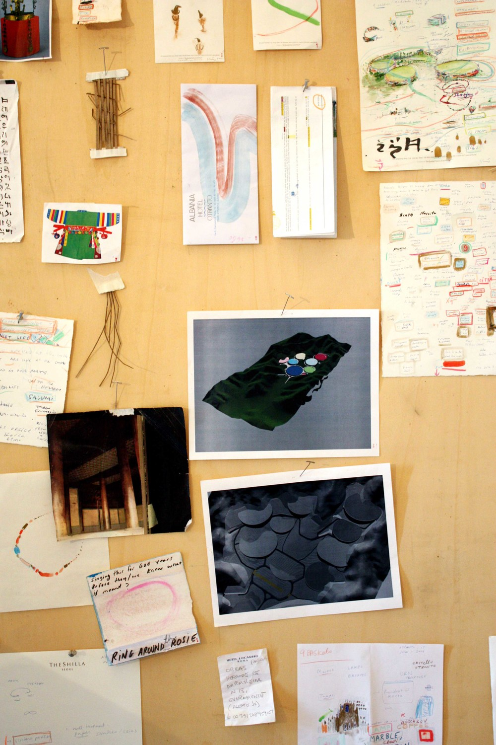 Studio Photograph, Puglia, Italy BAU Fellowship. SITE Analysis & Notes for the 50 Hector/ 9 Baskets/ Ho-Jeung Park, Korea, 2009 -