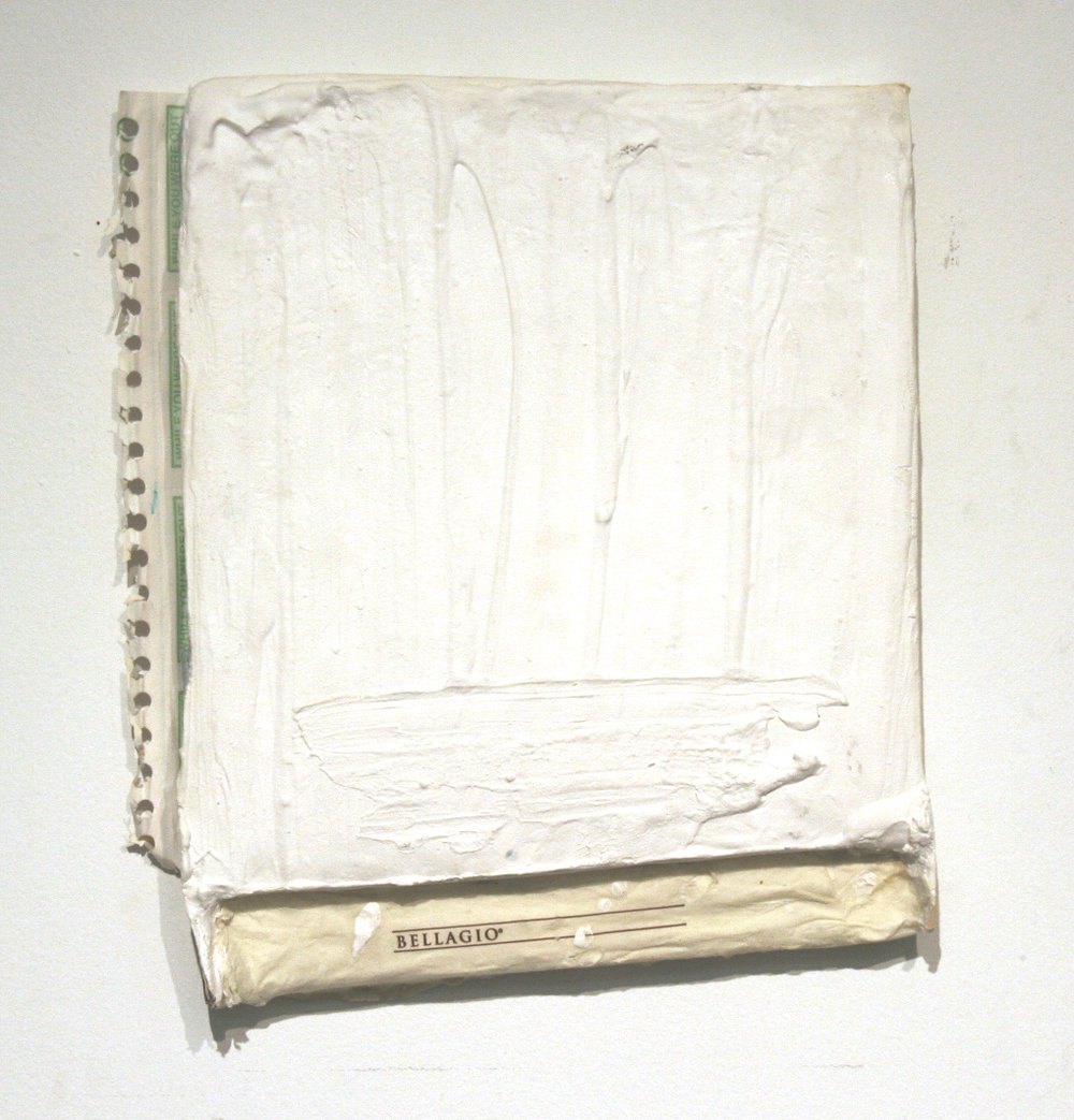 The Casinos Are Silent Now, Bellagio Napkin, Plaster, Recycled SITE Studio Phone Call Records 1980-90