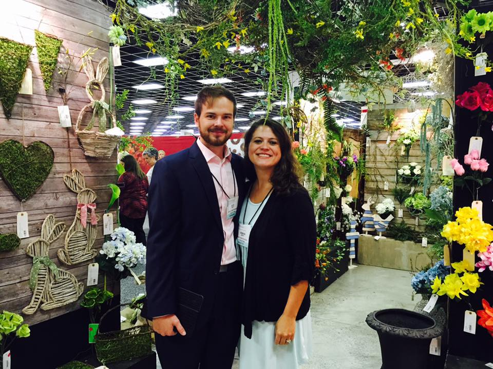 David and wife, Jennifer, at the Atlanta Market in their temporary booth space.