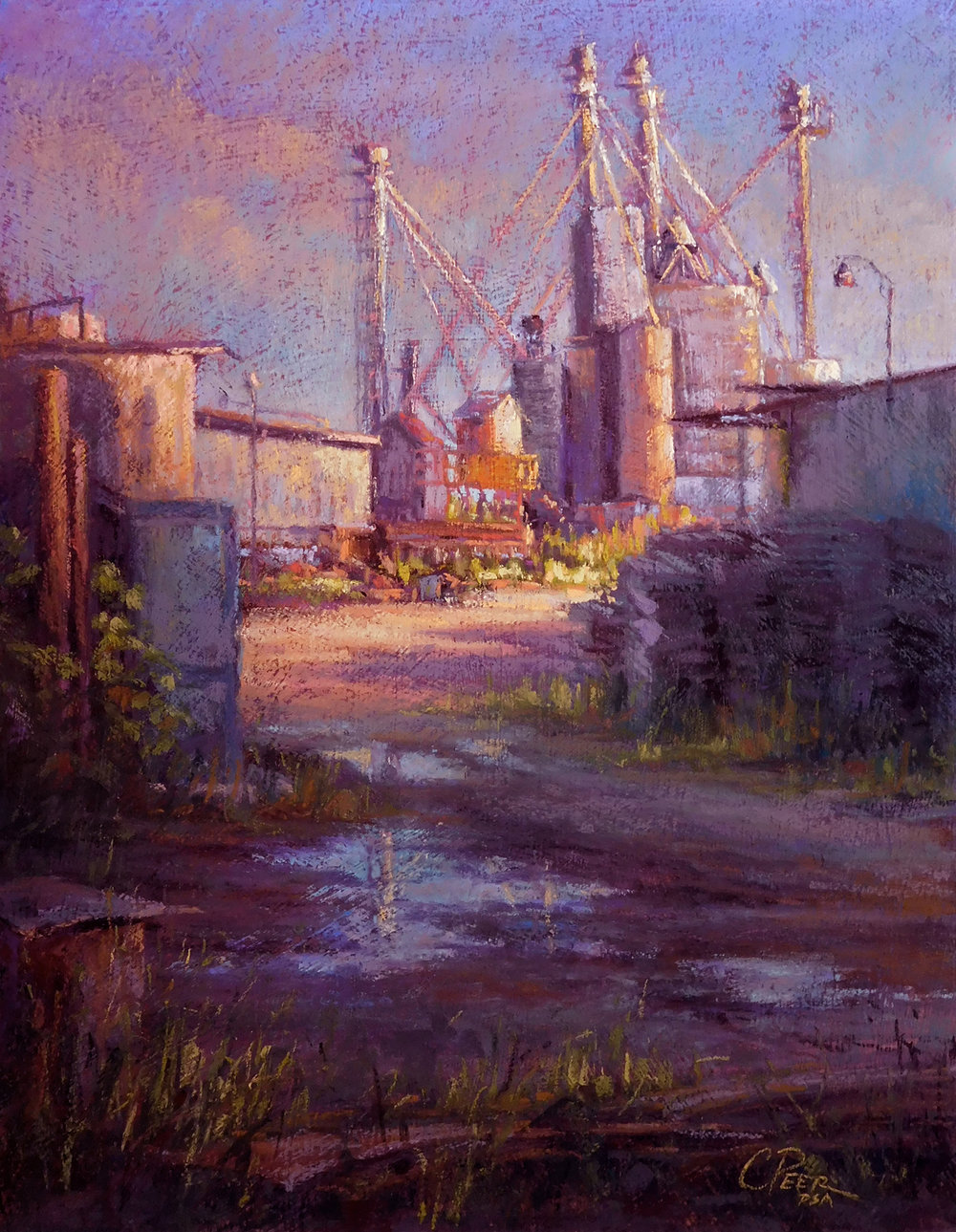 "October ""Scrap Metal, Precious Metal"" was selected to be part of the International Association of Pastel Societies' 30th Juried Exhibition in Albuquerque NM this summer.  This exhibition is in conjunction with its international convention, which happens every two years."