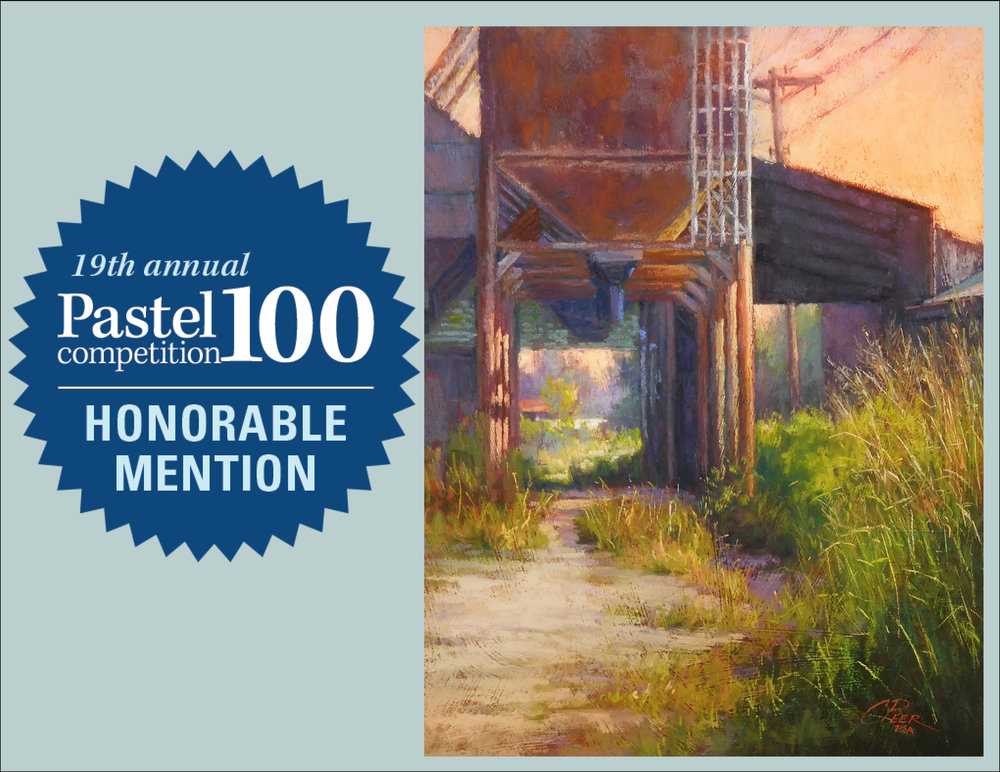 """Rusted Workman"" was awarded an Honorable Mention for the Landscape and Interior category of the Pastel 100 competition which will be featured in the 2018 April issue of the Pastel Journal. 100 paintings from the categories of Abstract and Non-Objective, Animal and Wildlife, Landscapes and Interior, Portrait and Figure, and Sill Life and Floral were selected from more than 2,300 entries."