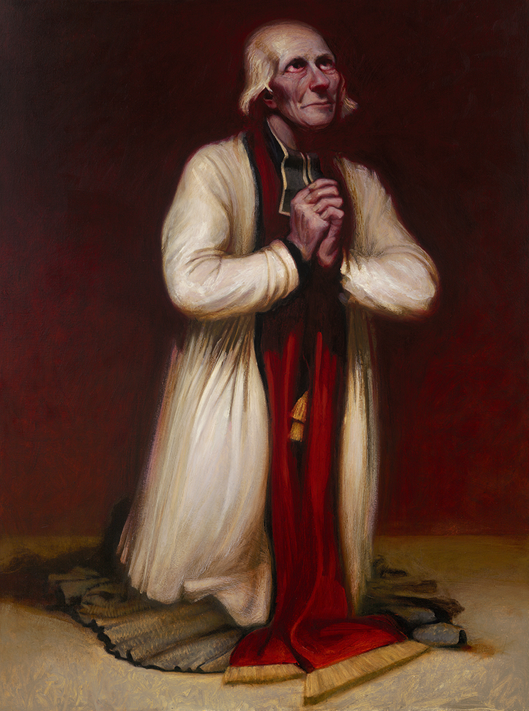 Client: Fraternitas Sacerdotalis Sancti Petri - Langley oil on canvas portrait St Jean Marie Vianney, Side Altar Chapel of Our Lady of Guadalupe Seminary
