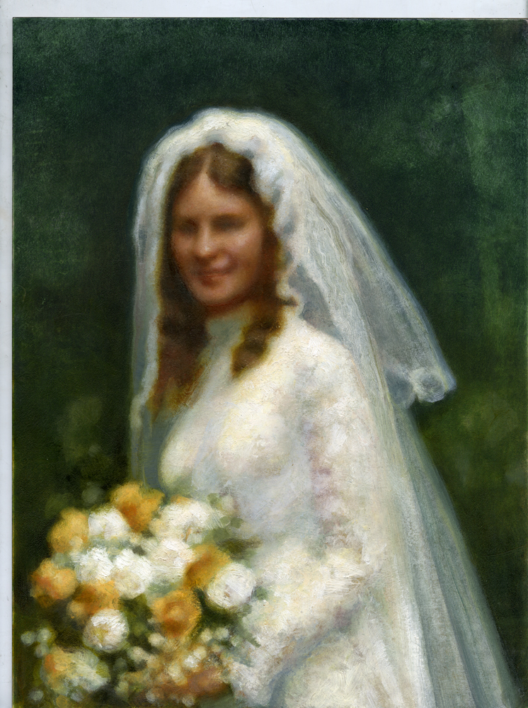 "Client: Chas Ryan FSSP  -  A Bride of Light  - Langley oil on panel 20""x16"" commissioned as a gift for a friend."