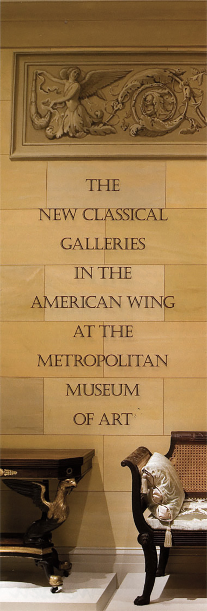 Client: Metropolitan Museum of Art - Langley oil on plaster trompe l'oeil architectural decoration for Israel Sack Gallery, American Wing MMA New York, New York.