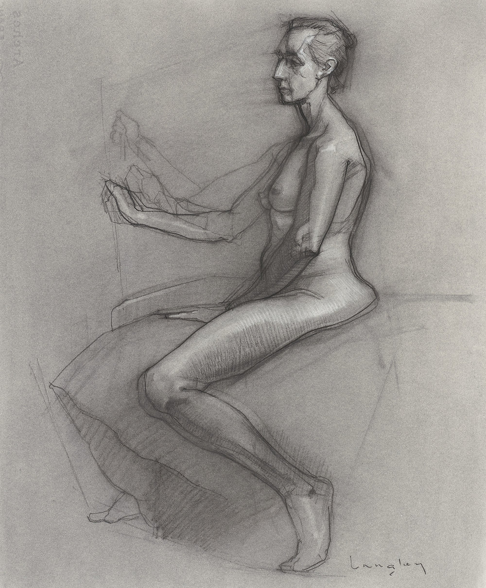 Langley Sybil charcoal female nude seated.jpg