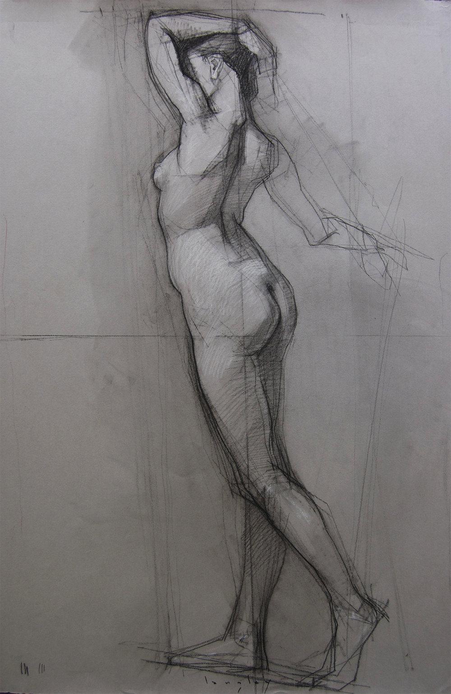 langley standing nude24x18 conte 2014 AR Virgo.jpg