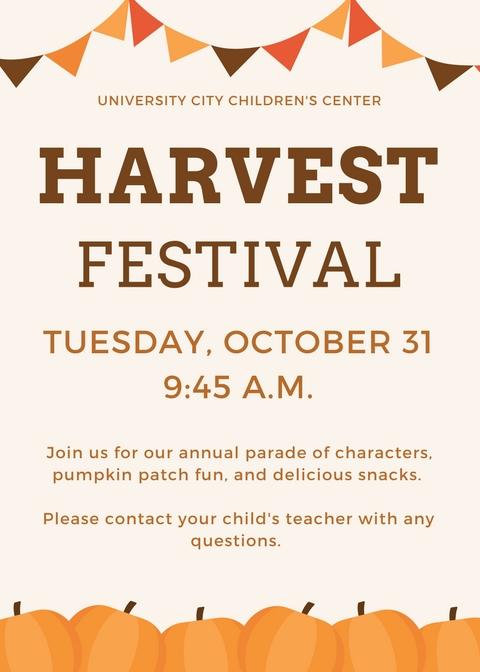 harvest festival university city children s center