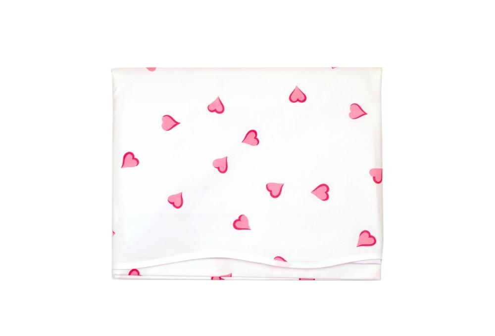 coeurs pink crib sheets