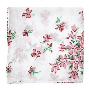 Printed Violettes Pink Handkerchief