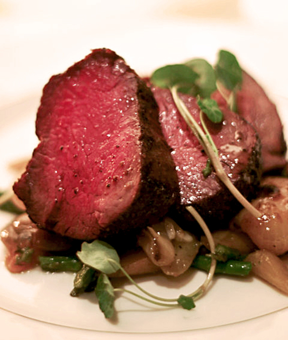 Seared prime filet mignon