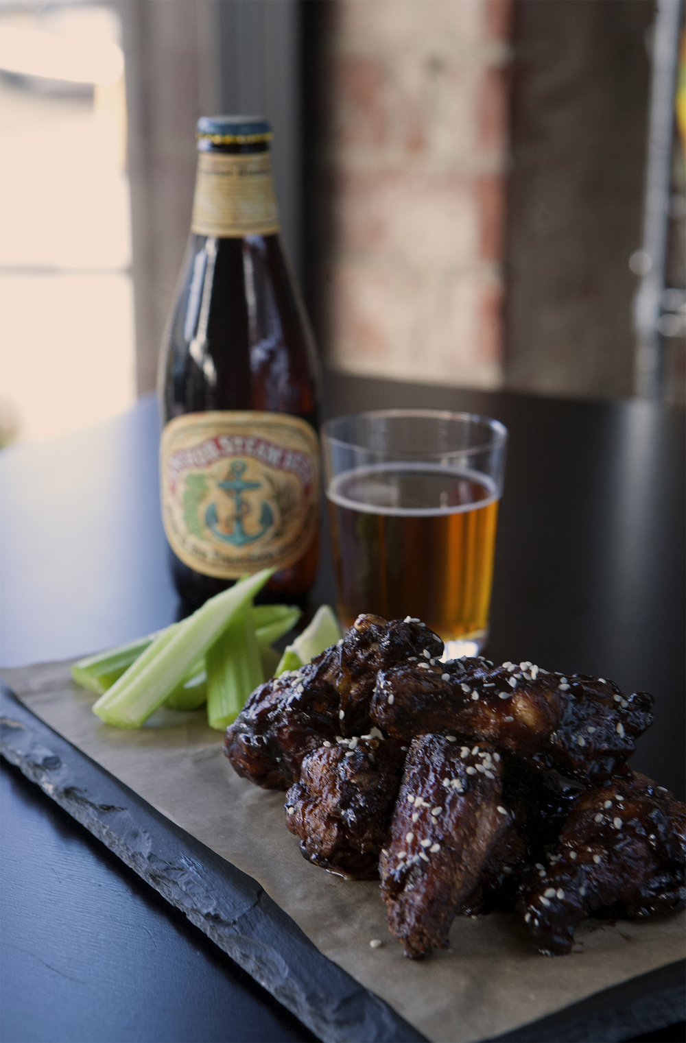 Korean Spiced Chicken Wings with Red Ale