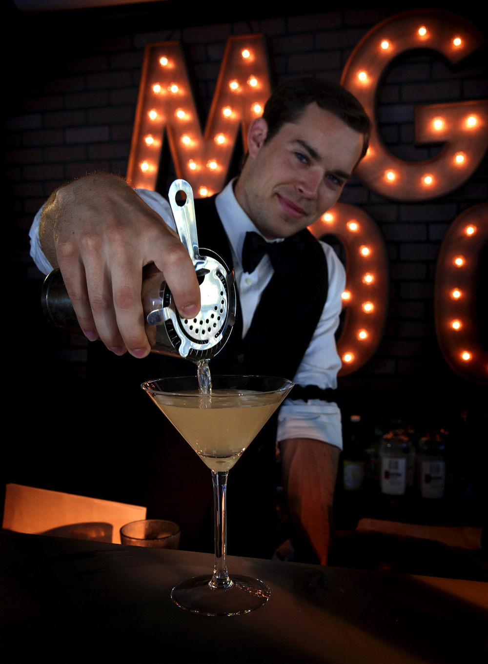 Serving a Dirty Rotten Scoundrel Martini