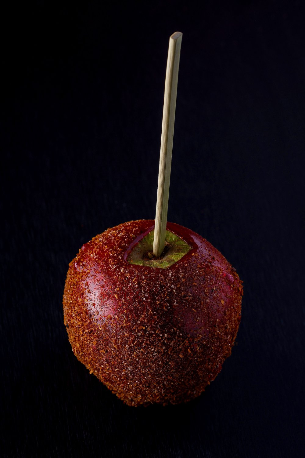 Spicy, candied Granny Smith apple