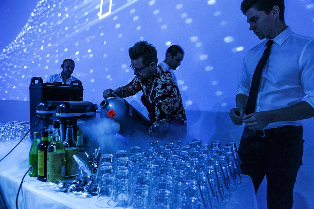 Liquid nitrogen cocktails