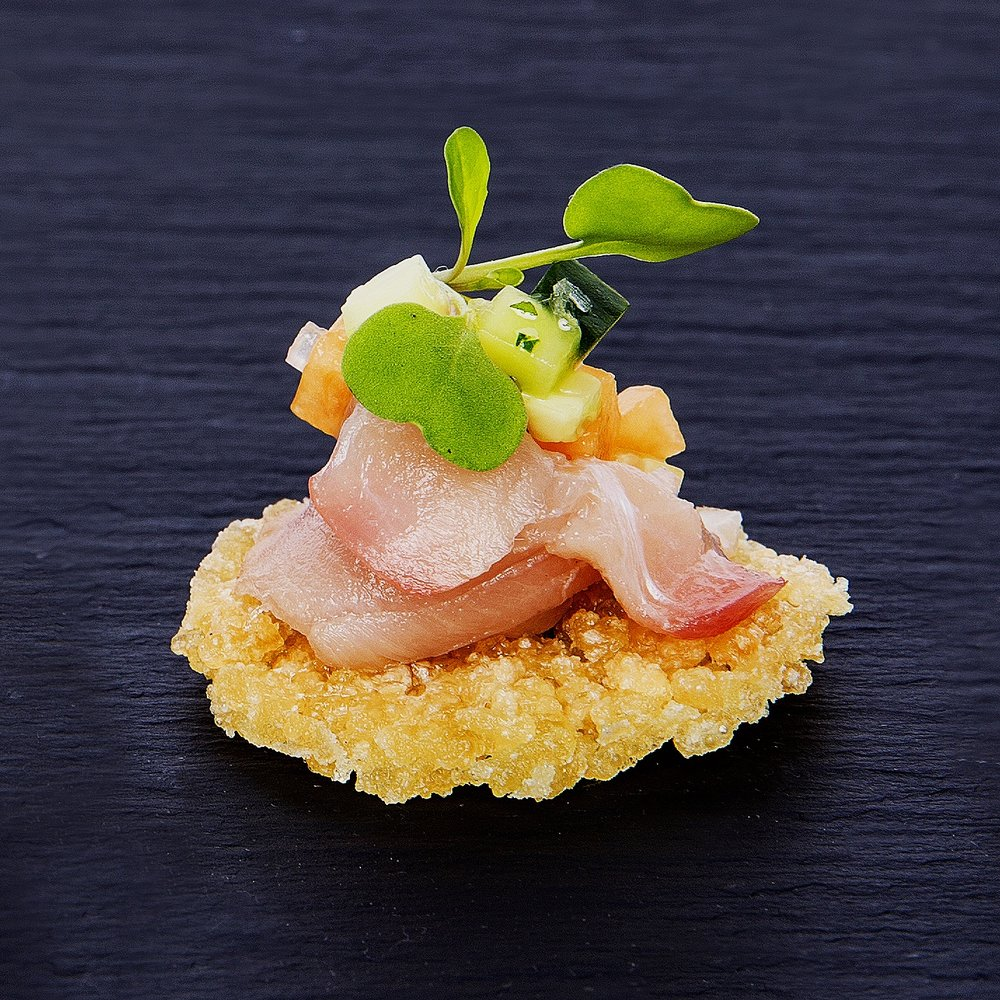 hamachi on rice crisp.jpg