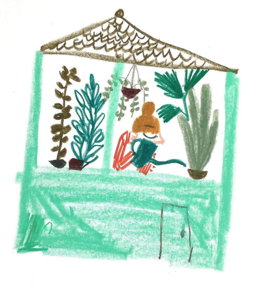 Angelika's garden. Unpublished personal work.