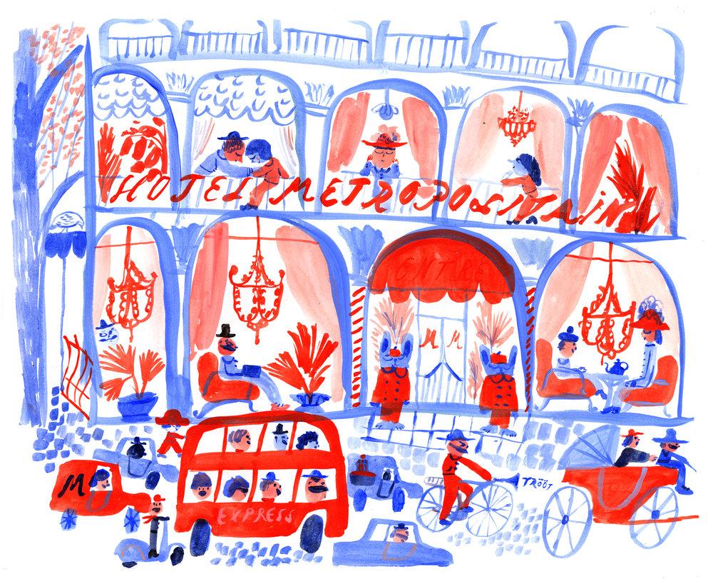 Paris Hotel Metropolitain. Unpublished personal work.