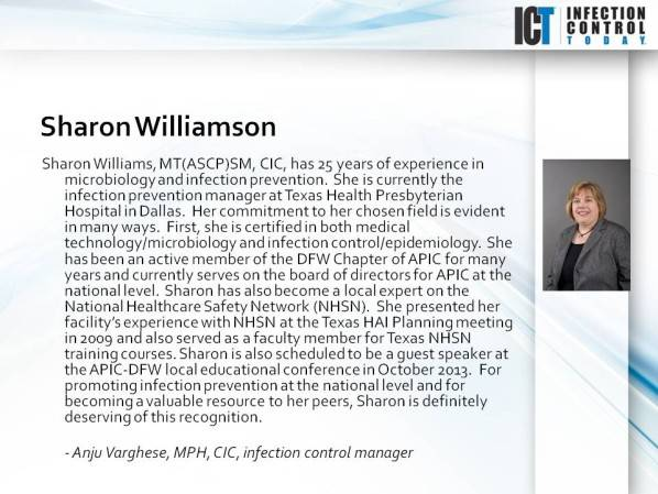 ICT's Who's Who in Infection Control: