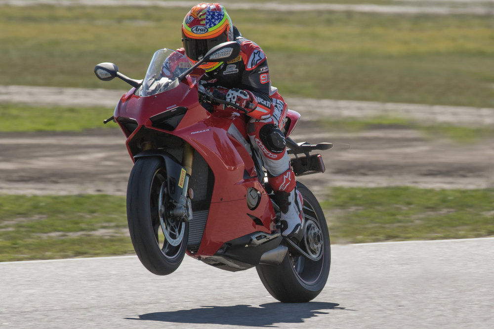 Former AMA Superbike winner Jake Zemke puts the power to the ground at Buttonwillow Raceway. | Photo - Oxymoron Photography