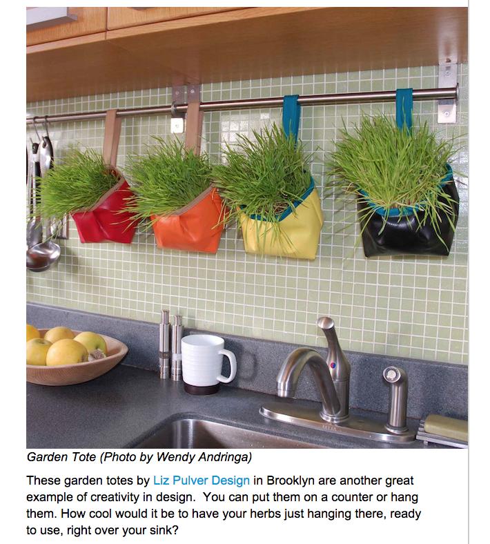 Sunset Magazine + Hanging planters