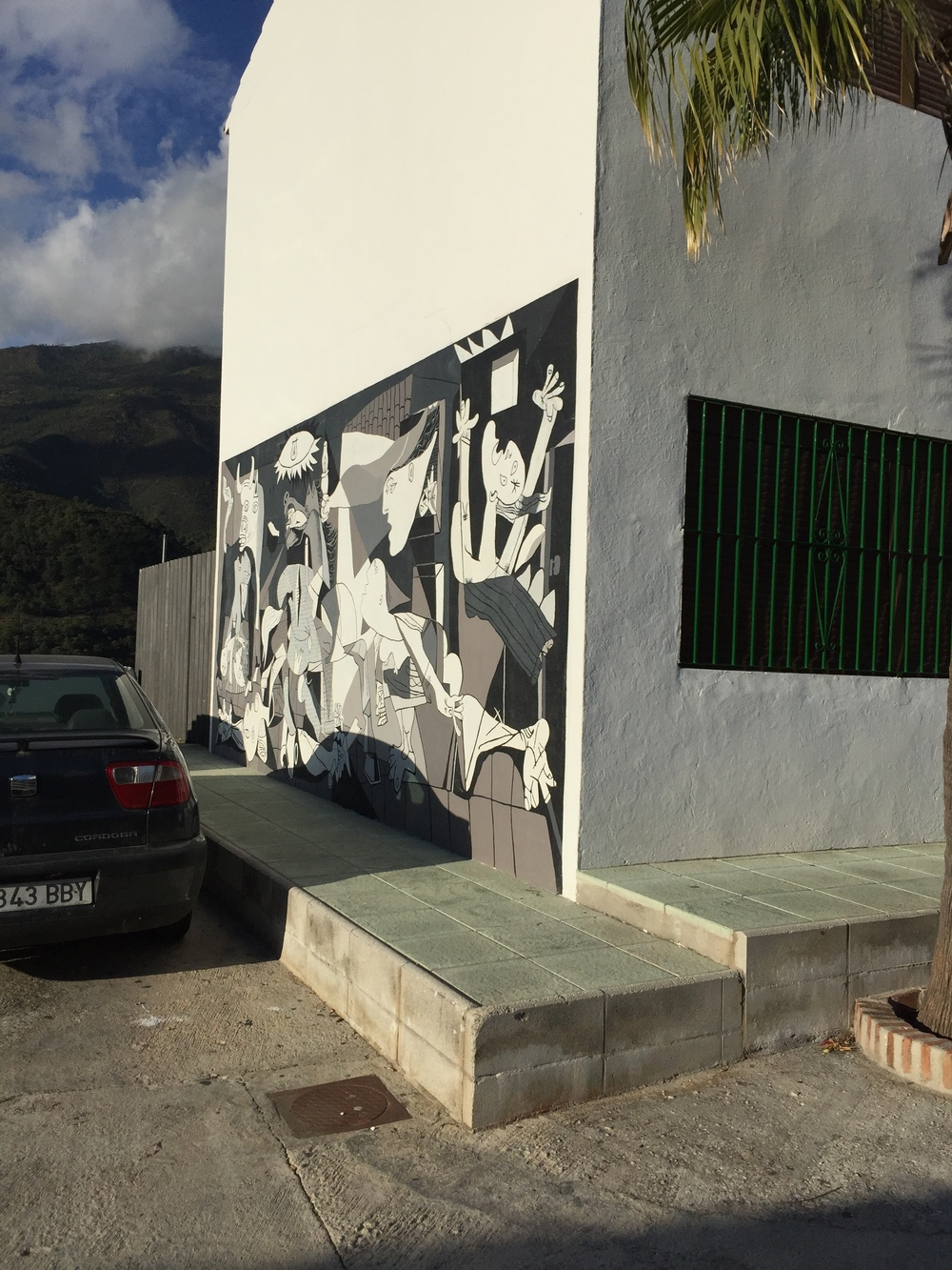 a copy of Picasso's Guernica in a mountain village was a reminder of the power of art to challenge violence