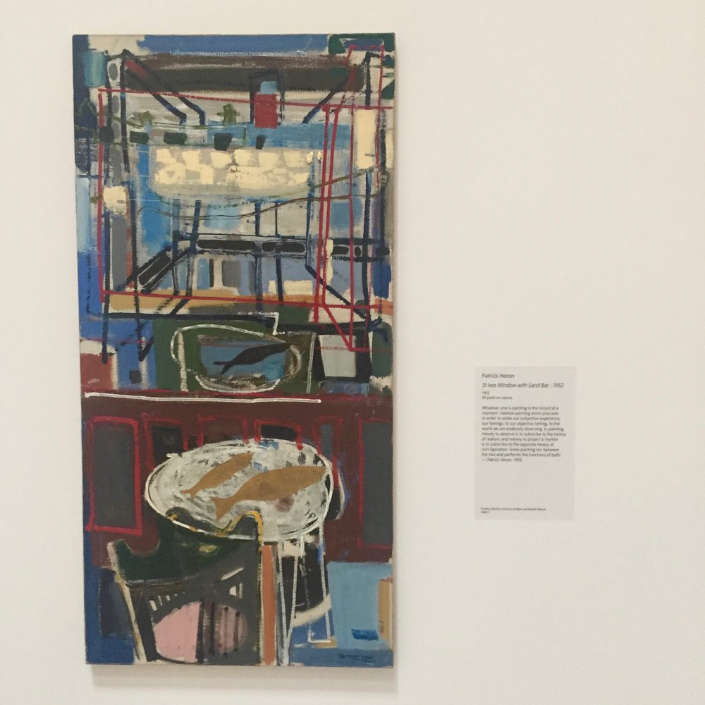 Patrick Heron,  St Ives Window with Sandbar.  As seen as Tate St Ives, May 2018.