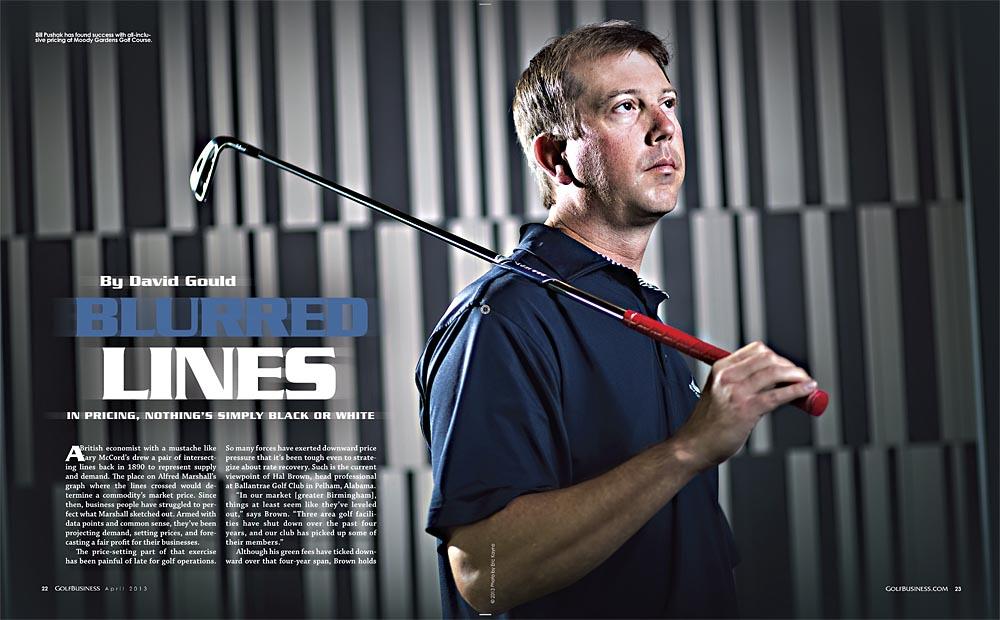 April 2013 Golf Business Magazine inside spread