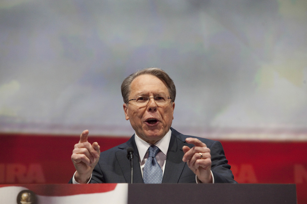 NRA vice president Wayne LaPierre speaks during the NRA-ILA Leadership Forum at the 2013 National Rifle Association Meeting and Exhibits May 3, 2013 in Houston.