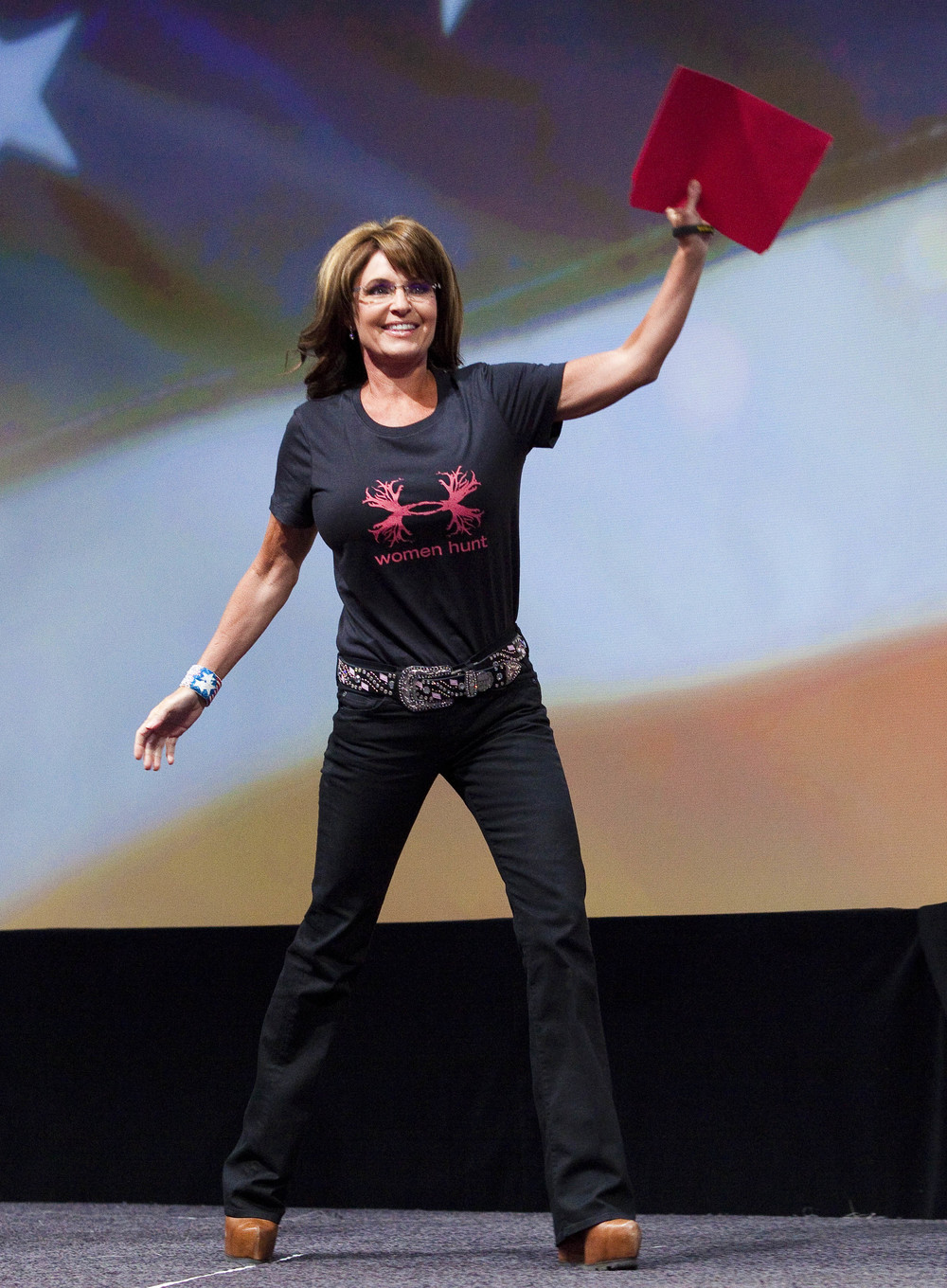 Former Alaska Governor Sarah Palin speaks during the NRA-ILA Leadership Forum at the 2013 National Rifle Association Meeting and Exhibits May 3, 2013 in Houston.