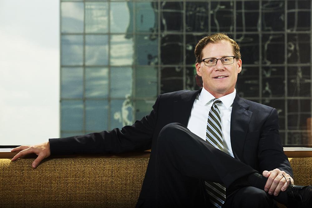 Tom Bastian in the Invesco Houston office.