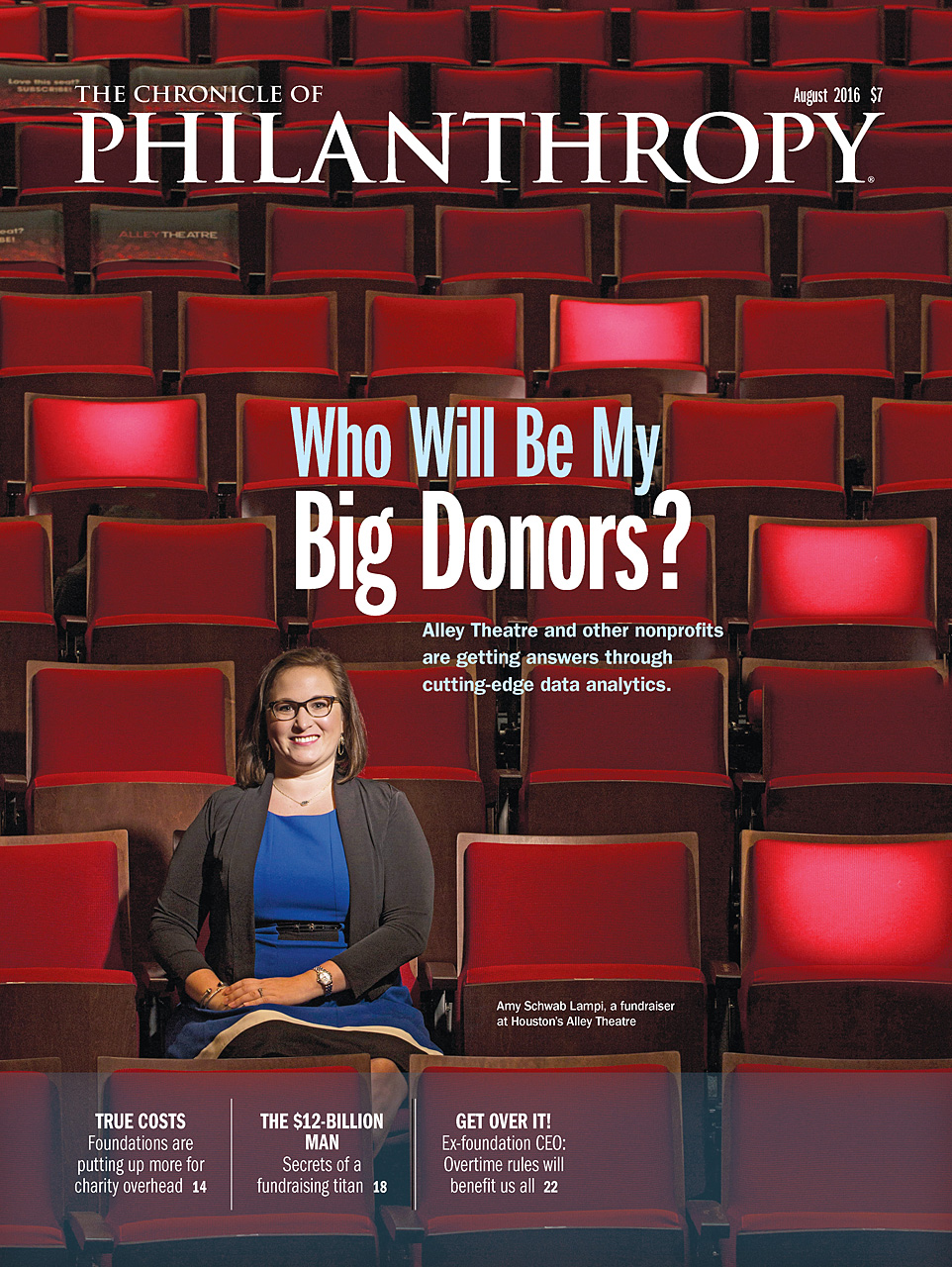 August 2016 cover of The Chronicle of Philanthropy