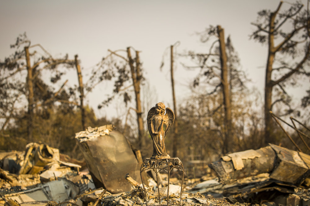 Fire aftermath in the Coffey Park neighborhood Oct. 12, 2017 in Santa Rosa, CA.