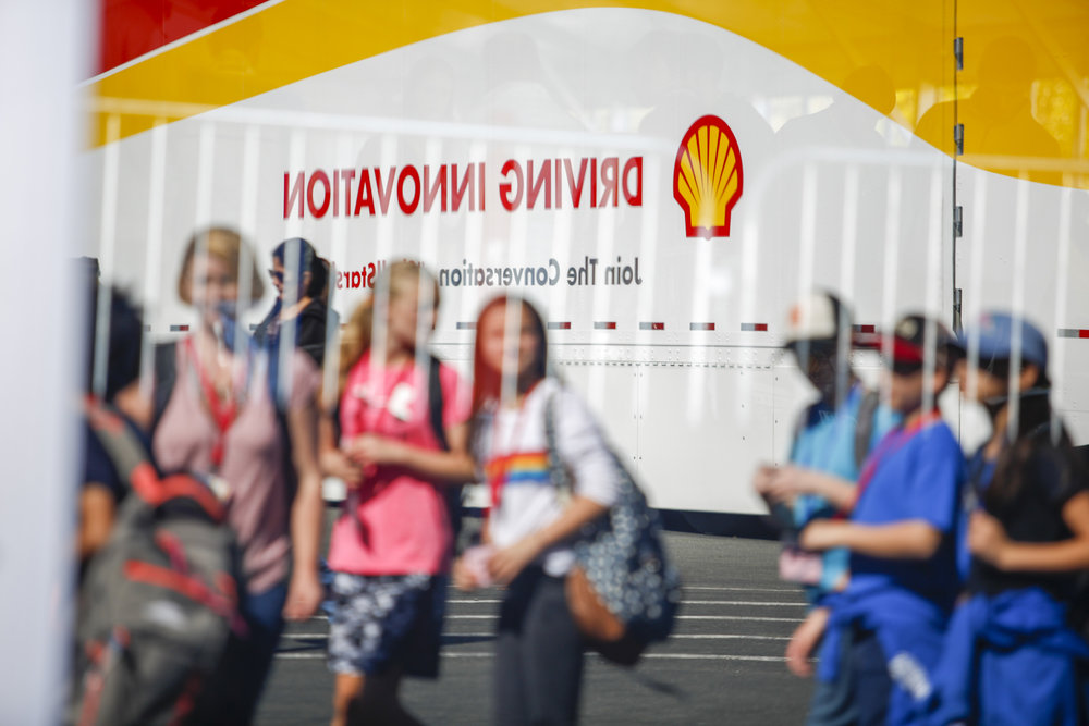 Participants take in the experience during day two of Shell Make the Future at Sonoma Raceway, Friday, April 20, 2018 in Sonoma, Calif.