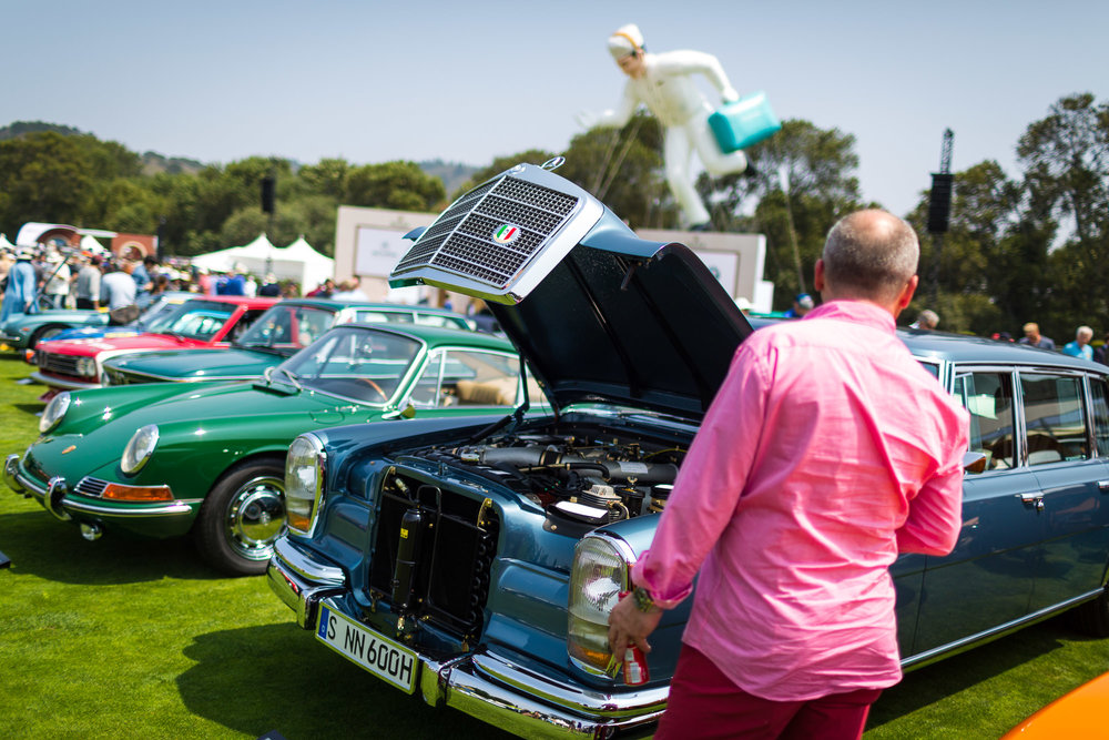 Collectable cars and owners gather at The Quail – A Motorsports Gathering on Friday, Aug. 24, 2018, in Carmel-By-The-Sea, Calif. (Eric Kayne/AP Images for Nissan)