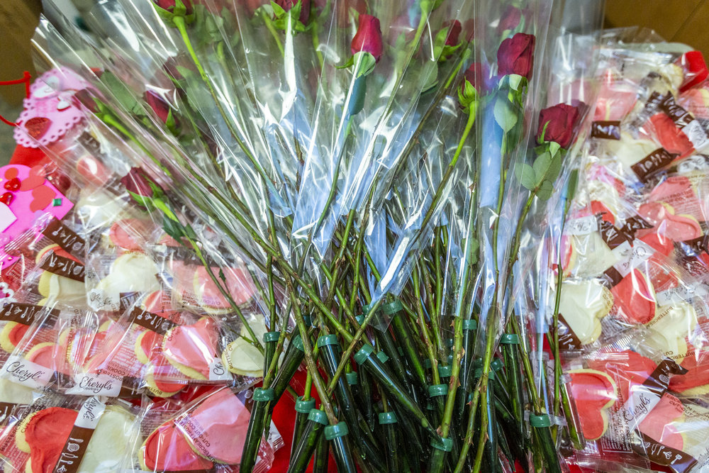 1-800-Flowers.com and Cheryl's Cookies surprise AARP members and residents at the Armed Forces Retirement Home on Valentine's Day on Thursday, Feb. 14, 2019 in Washington, DC.